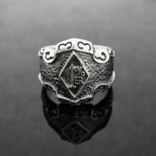 925 Silver 1% ER Ring for Motor Biker - SR13