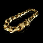 The Biker Metal Golden Bracelet - TB141
