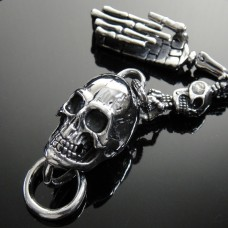 316L Stainless Steel Skull key Chain - TBE84