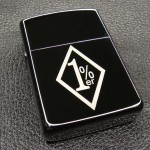 1% ER Black Mirror Windproof Lighter - LG2048