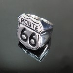 316L Stainless Steel Route 66 Ring - TR138