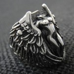 Hell Angel Wing Ring For Motor Biker - TR77