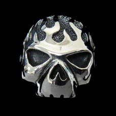 Skull Ring For Motor Biker - TR66