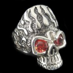 Skull Ring For Motor Biker - TR06